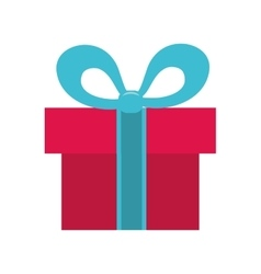 Gift bowtie present design vector
