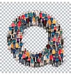 group people shape letter A Transparency vector image vector image