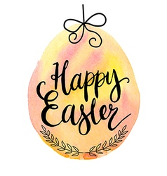 Happy easter cards with font vector image vector image