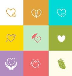 Heart shape set vector image vector image