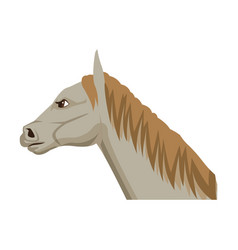 Horse cartoon farm mammal animal icon vector
