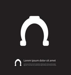 isolated shoe icon horseshoe element can vector image