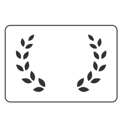 Laurel wreath icon border 16 vector