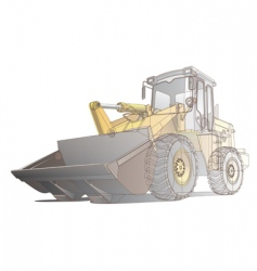 loader / digger illustration vector image vector image