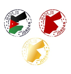 made in Jordan stamp vector image vector image