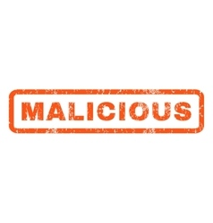 Malicious Rubber Stamp vector image vector image
