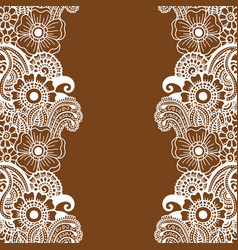 mehndi vertical backrtound vector image