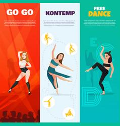 modern dances vertical banners vector image vector image