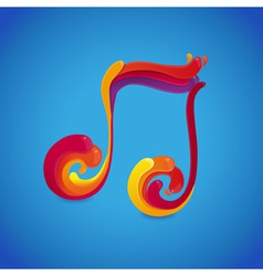 music rainbow vector image