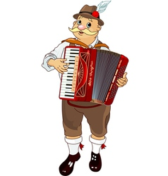 Oktoberfest germany musician playing accordion vector