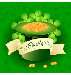Patricks Day Card with Leprechaun Hat vector image vector image
