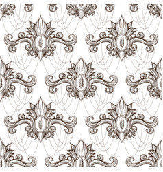 seamless damask pattern of elegant twisted woven vector image vector image