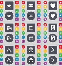 Star New Heart SMS Calendar Speaker Disabled vector image