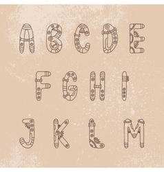 Steampunk font a-m vector