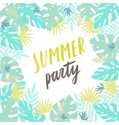 Summer party template flyer poster vector