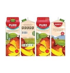 Template packaging design mango juice vector