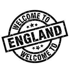 welcome to england black stamp vector image vector image