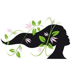 Woman silhouette profile vector