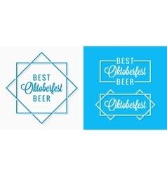 Oktoberfest vintage logo set design background vector image
