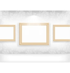 Empty frame on wall in gallerys vector image