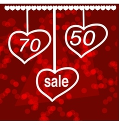 Valentine s day sale design concept vector image