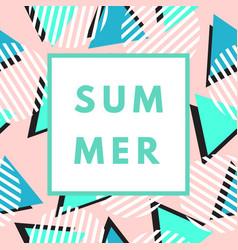 Summer greeting card vector