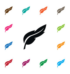Isolated pen icon feather element can be vector