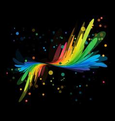 Splash multicolored element on black vector