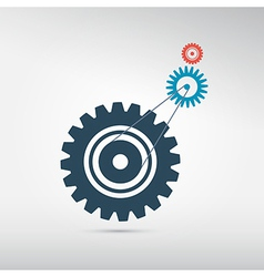Abstract cogs - gears on grey background vector image