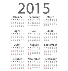 Calendar design vector