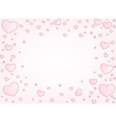 Valentine card hearts vector image