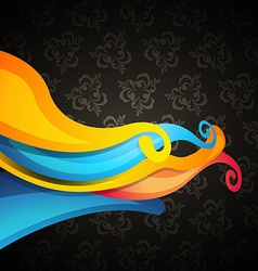 Wave on dark background vector