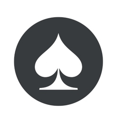 Monochrome round spades icon vector