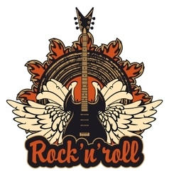 poster for a rock and roll vector image