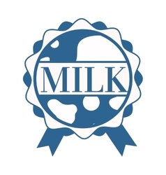 Milk splash with text vector