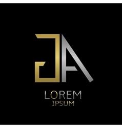 GA letters logo vector image
