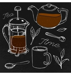 Hand drawn tea vector