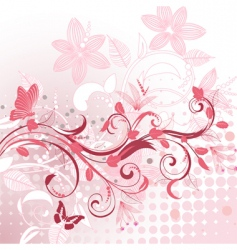 abstract flower pattern plant vector image vector image