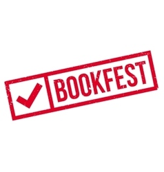 Bookfest rubber stamp vector