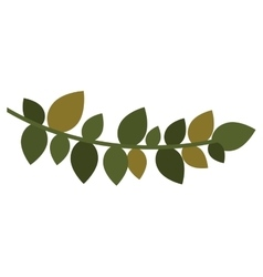 Christmas leaf silhouette with ramifications vector