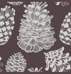 dark cone seamless hand drawn pattern vector image vector image