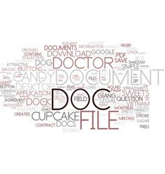 Doc word cloud concept vector