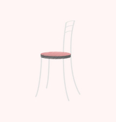 flat shading style icon chair vector image