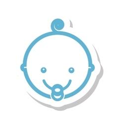 Head cute baby isolated icon vector