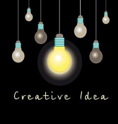 Idea concept glowing light bulb vector