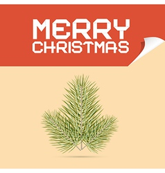 Merry christmas template with branch vector