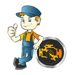motor vehicle repair master vector image
