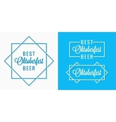 Oktoberfest vintage logo set design background vector