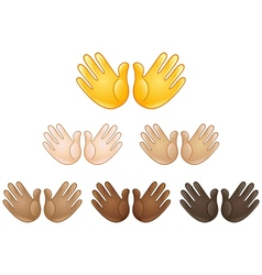 Open hands sign emoji vector