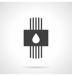 Plumbing system black design icon vector